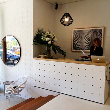 Byron Beauty Bar Interior Design