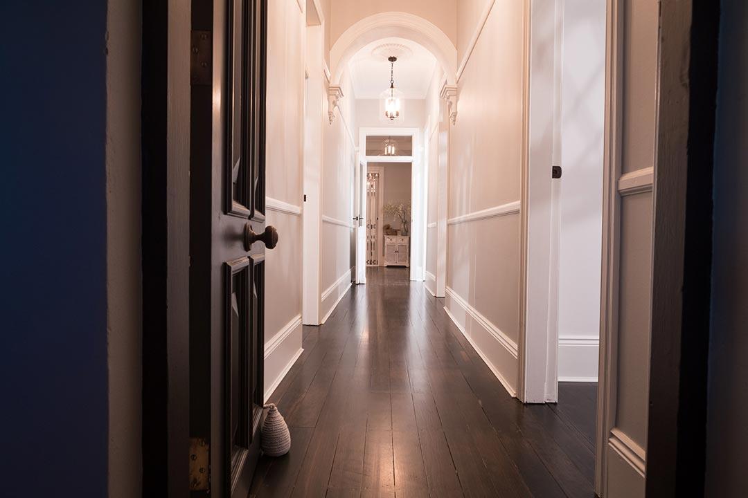 Hallway. Interior design project Lang street Mosman