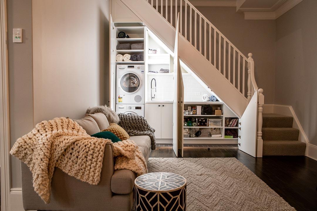Laundry. Interior design project Lang street Mosman